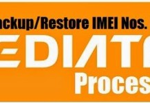 How to Backup/restore IMEI in Mediatek
