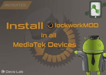 ClockworkMod recovery for all mediatek devices