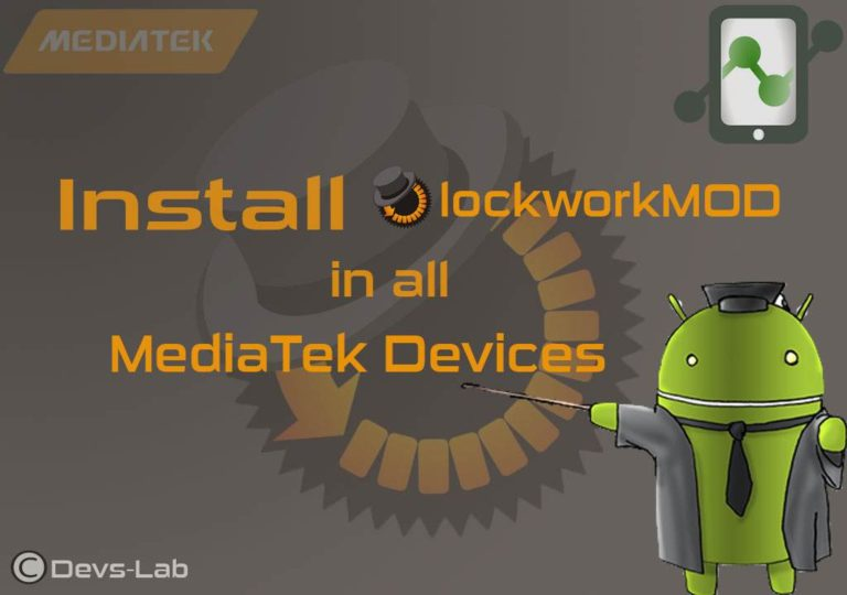 Install ClockworkMOD(CWM) in all MediaTek Android Device   Working 1000%