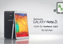 Note 3 Custom ROM for Karbonn A25