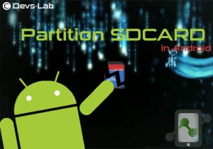 Partition SDcard in Android