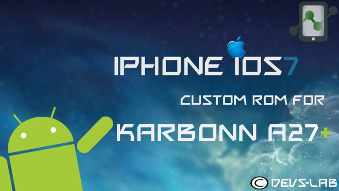 iOS7 Custom ROM for Karbonn A27+