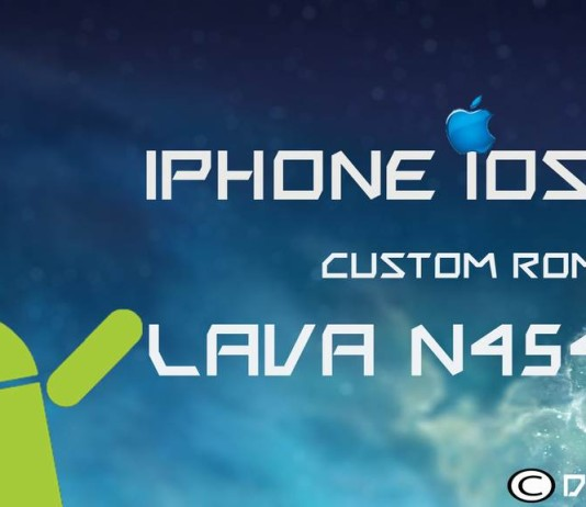 iOS7 ROM for Lava N454