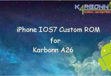 IOS 7 Custom ROM for Karbonn A26