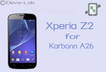 Xperia Z2 ROM for Karbonn A26