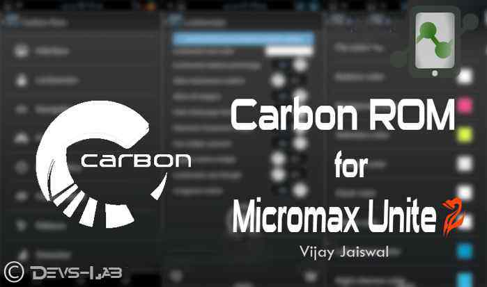 Carbon ROM for Micromax Unite 2
