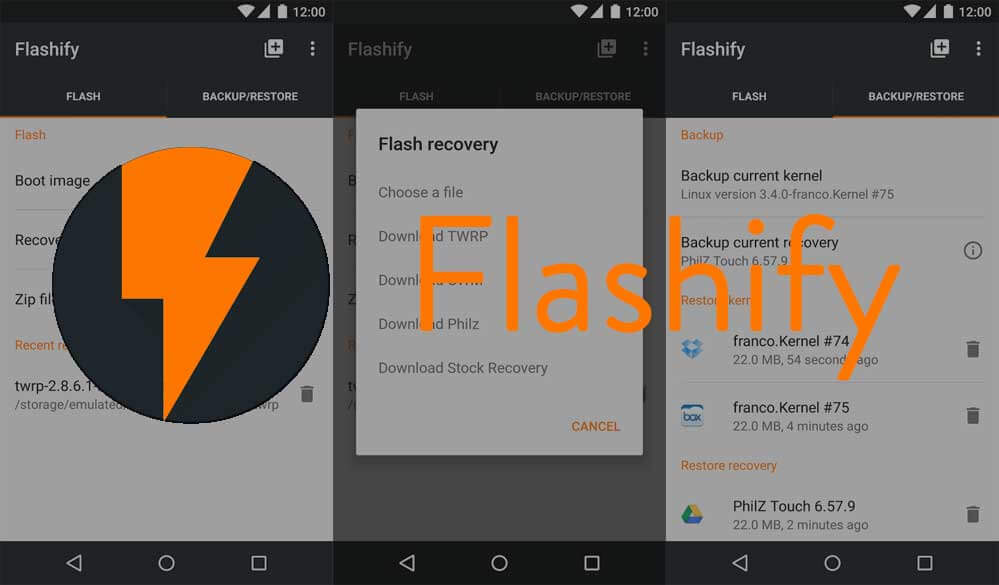 Flashify Android App - Best Rooted Apps for Android