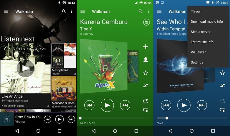 Walkman Material Design App