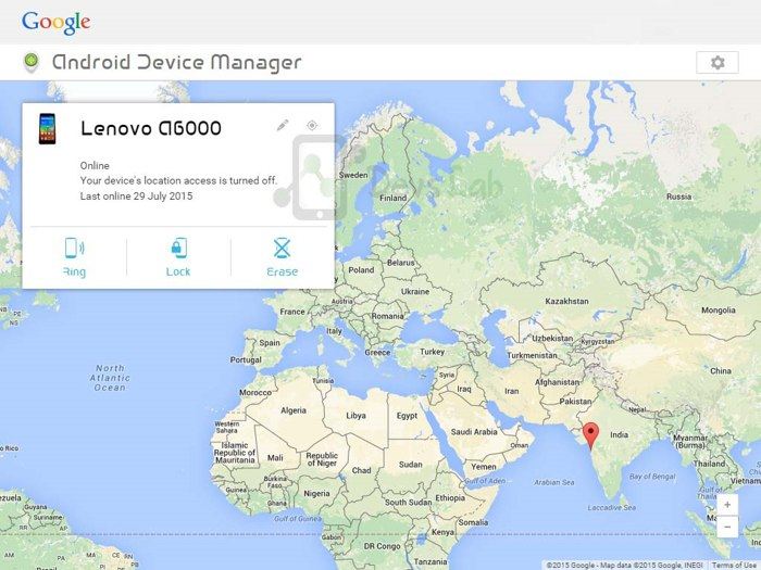 Android Device manager controls your device
