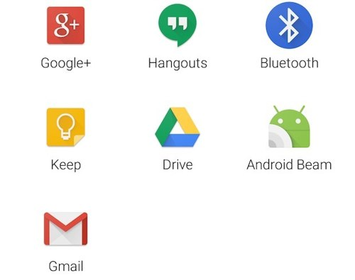 Android M new Share menu
