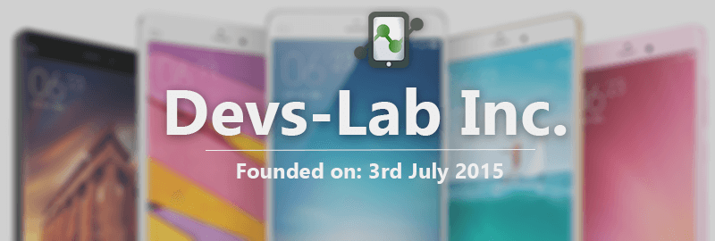 Devs-Lab was founded on 3rd July 2015