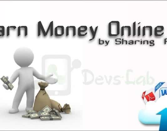 Earn Online by Sharing files