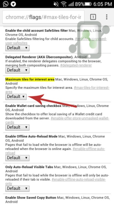 Increase Chrome memory in Android