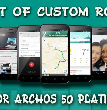 Custom ROMs for Archos 50 Platinum