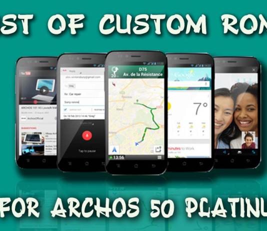 Custom ROMs for Archos 50 Platinum