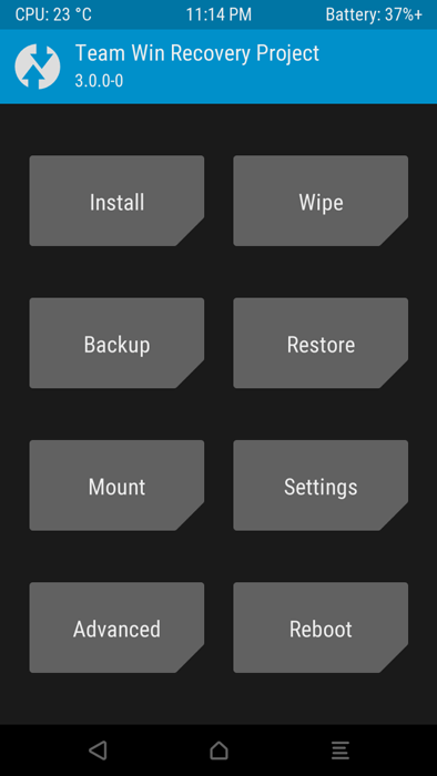 TWRP 3.0.0 recovery OnePlus Two 2