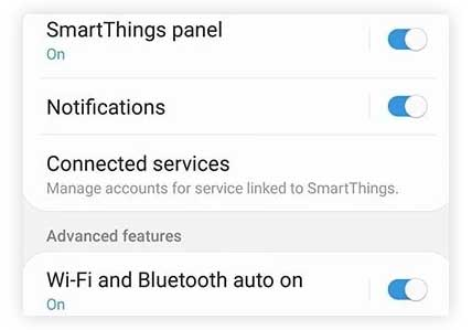 Turn Off Smart features