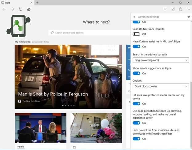 Keep Cortana from Sending Your Browser History to Microsoft