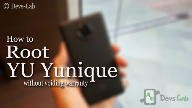 How to Root YU Yunique