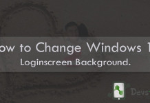 Change Windows 10 Loginscreen Background