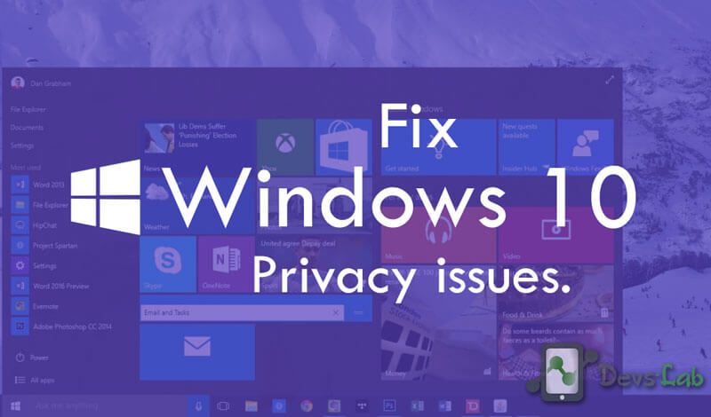 How to fix Windows 10 Privacy problem and data sync