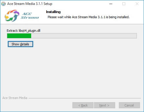 Installing Ace Stream