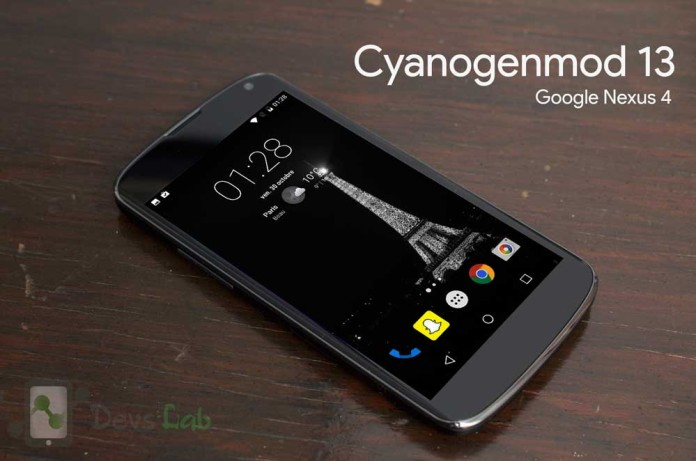 Cyanogenmod 13 Android M ROM for Google Nexus 4