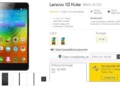 Lenovo K3 Note Price on Flipkart Rs. 9,999 & 5,999 with exchange on 26th Dec. 2015