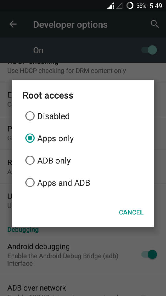 Root Access in Cyanogenmod 13 Galaxy S2