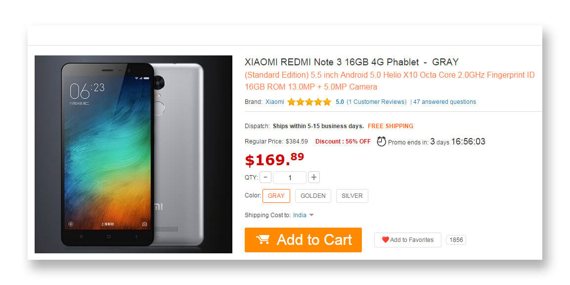Xiaomi Redmi Note 3 Lowest Price Guaranteed