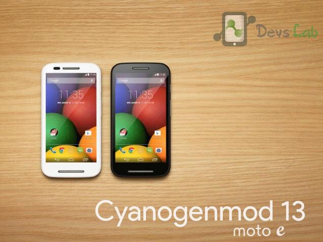 Download and Install Cyanogenmod 13 in Moto E 1st Gen 2014 - DevsJournal