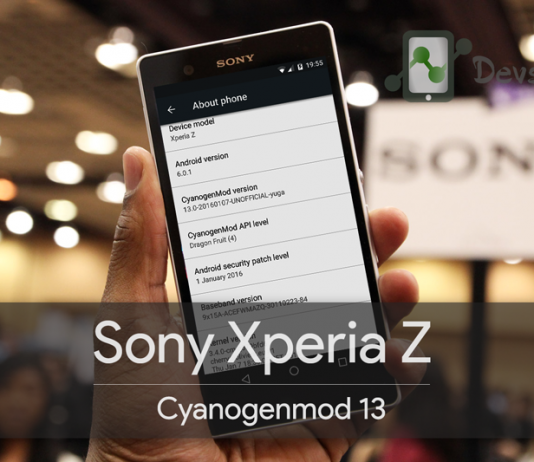 Cyanogenmod 13 CM 13 Download Install Sony Xperia Z