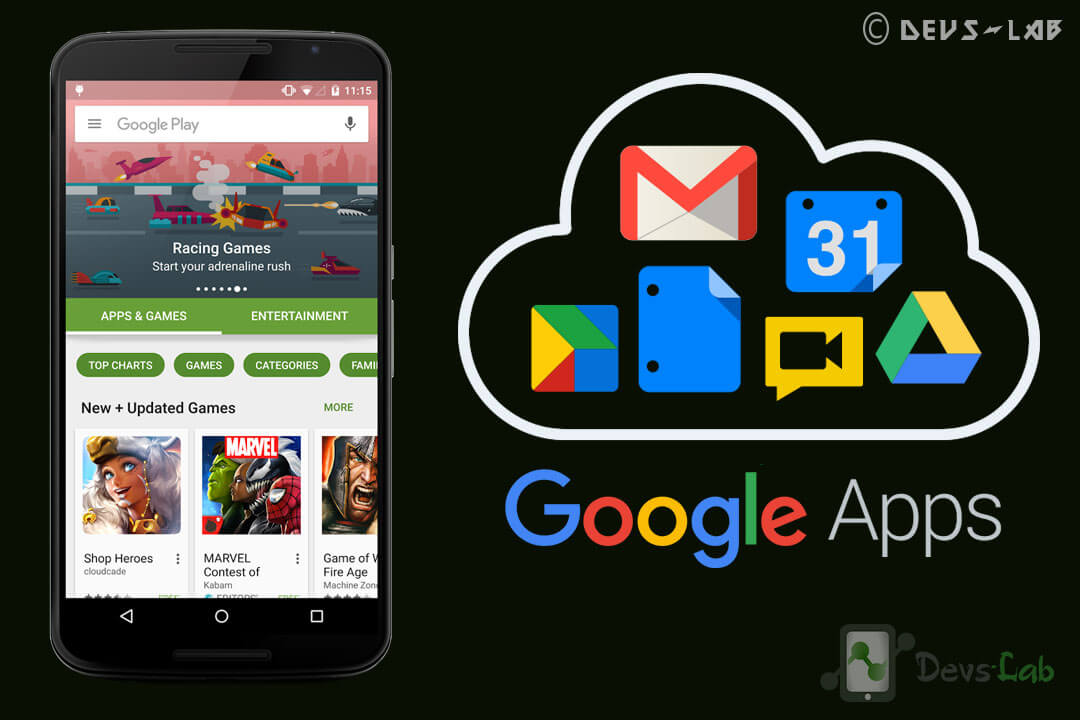 Download Google Apps (Gapps) for Lollipop, Marshmallow, Nougat and