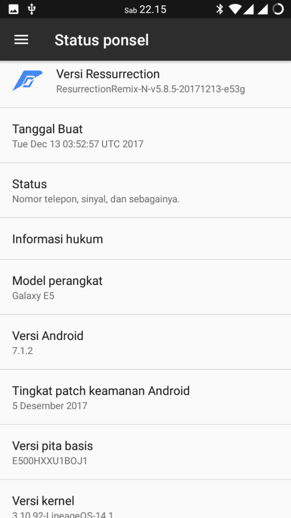 How to install LineageOS 14.1 (Android N) for Galaxy E5 (E500H)
