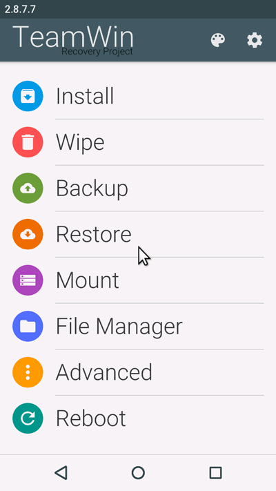 TWRP Recovery download CM 13 Sony Xperia Z