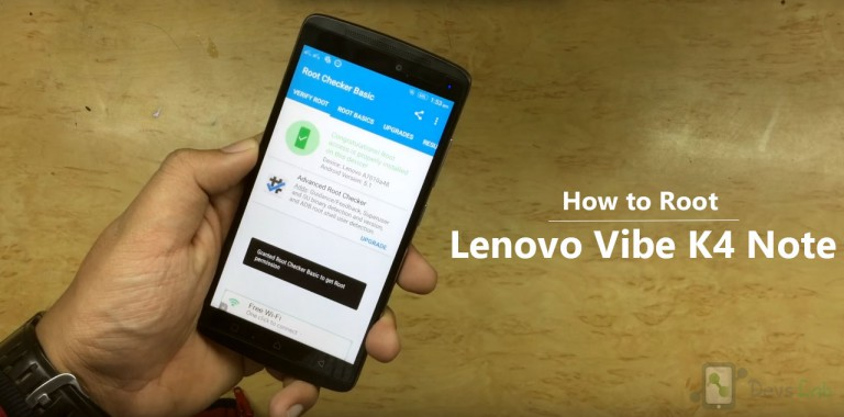 How to Root & unroot Lenovo K4 Note without PC in single click.