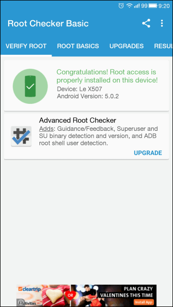Successfully rooted LETV LE 1S