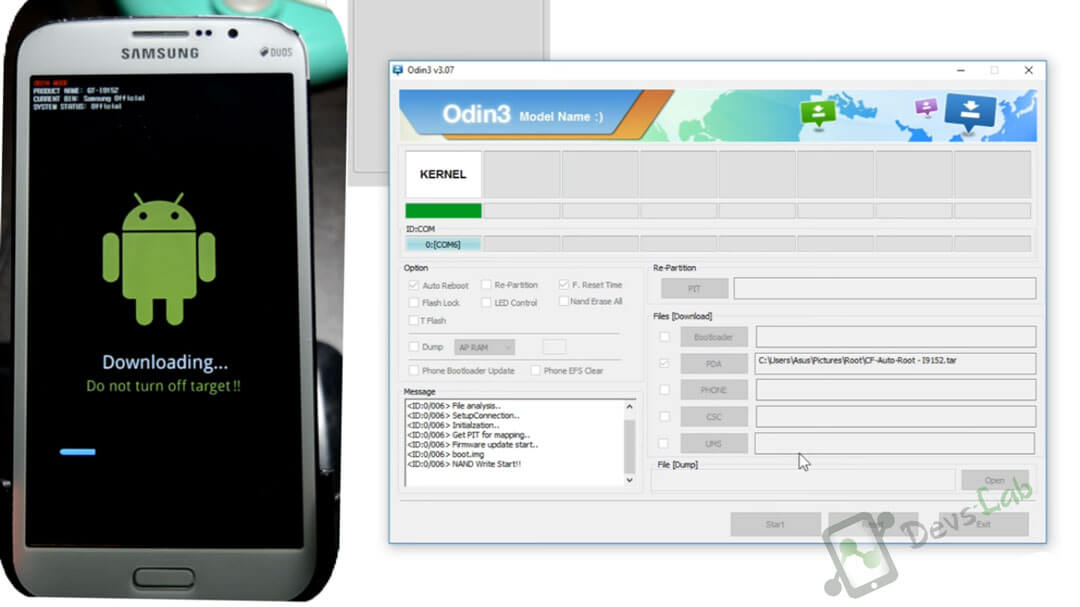 Root any Android using CF Auto Root