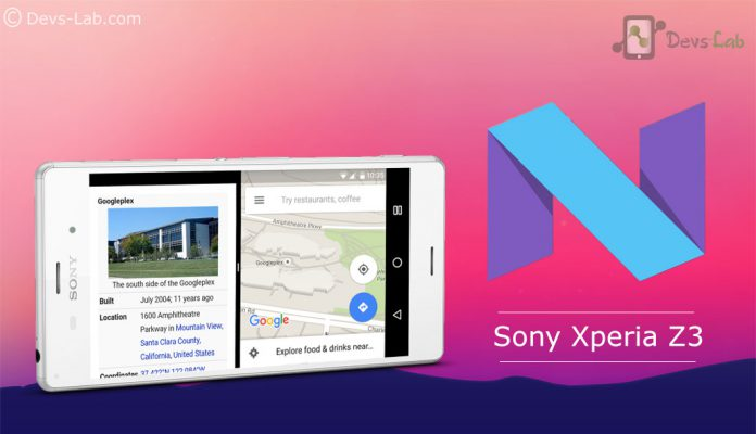 Android N Developer Preview for Sony Xperia Z3