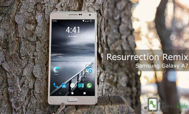 Resurrection Remix CM13 ROM for Samsung Galaxy A7