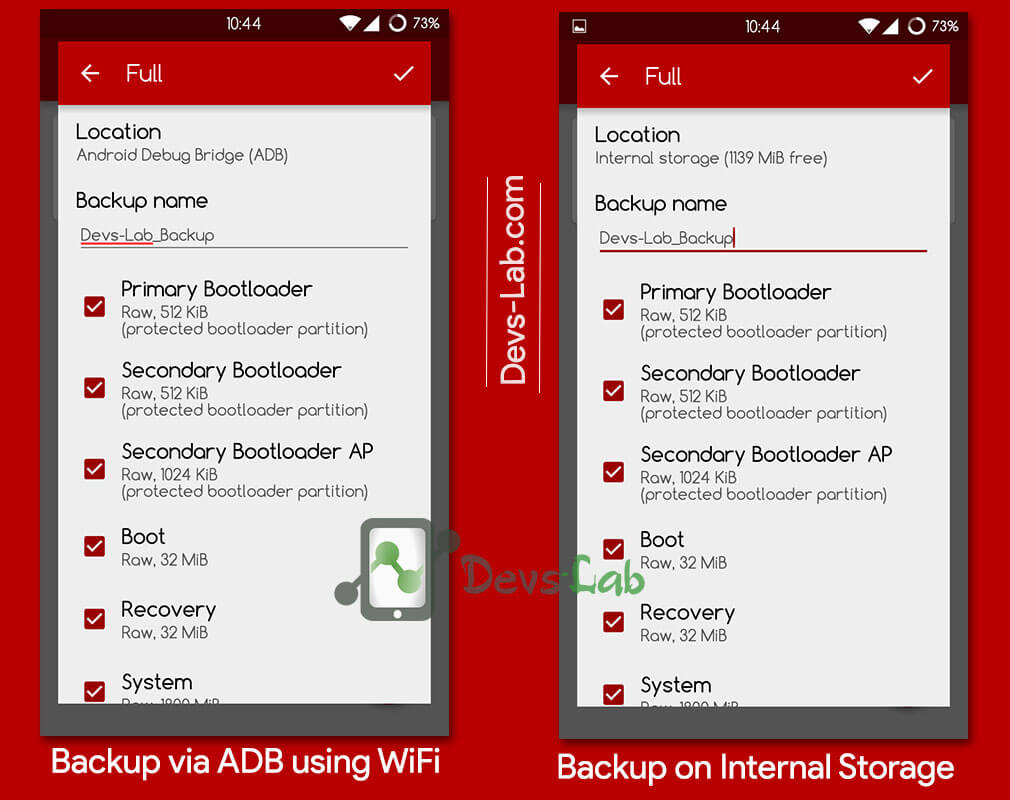 FlashFire Backup and Restore Android partitions.