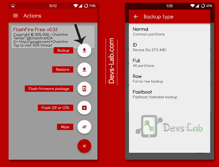 How to backup Android using Flashfire