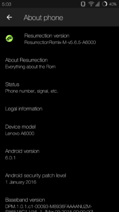 Resurrection Remix ROM Lenovo A6000/Plus