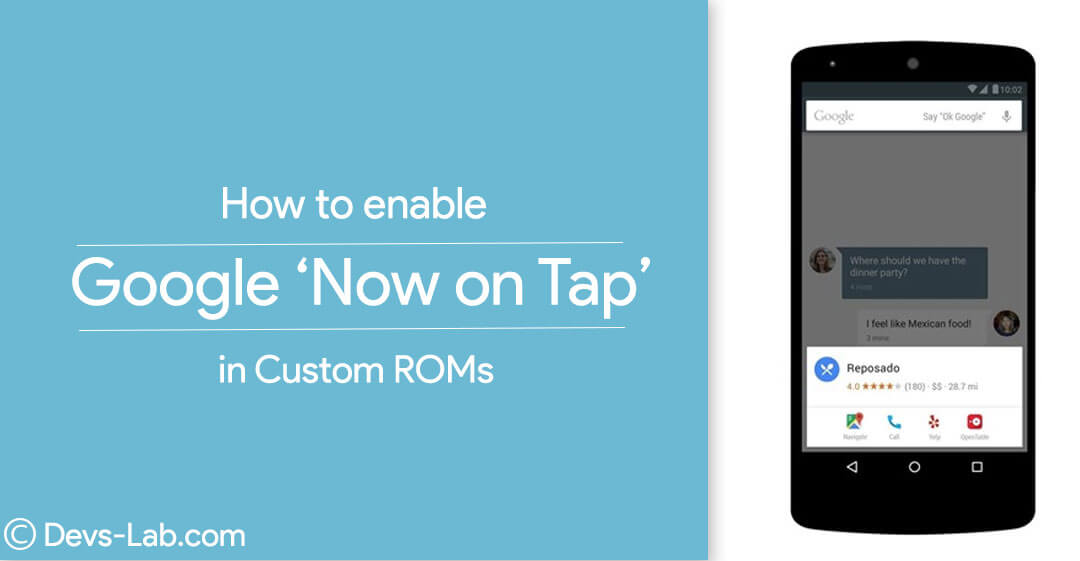 How to Enable Google Now on Tap feature in 6.0 Custom ROMs