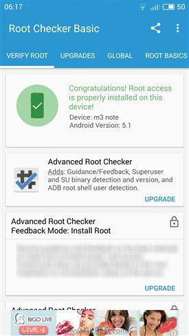 Meizu M3 Note rooted successfully