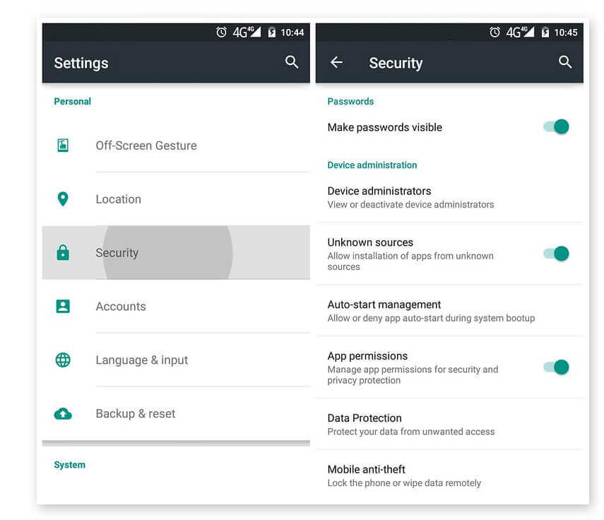 Enable unknown Sources in Android Marshmallow - GBWhatsApp apk