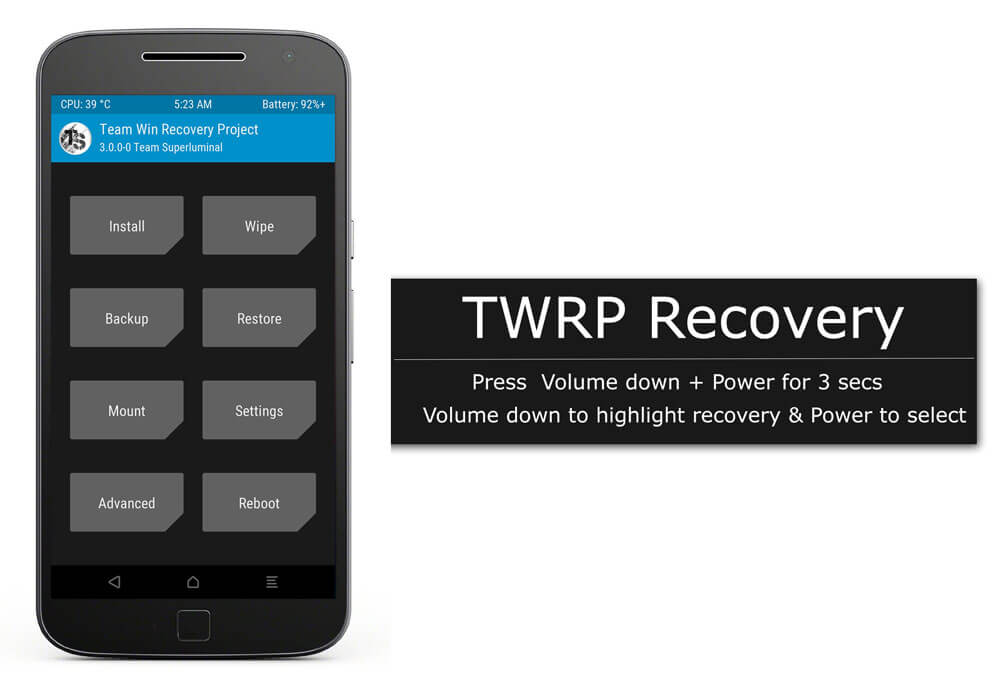 TWRP Recovery for Motorola G4 Plus