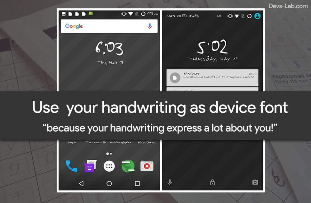 How to use your handwriting as your Android device font