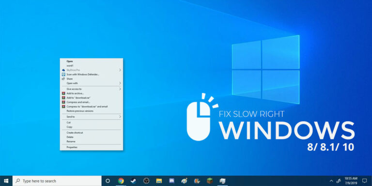 How to fix Slow Right Click (Context Menu) in Windows 10
