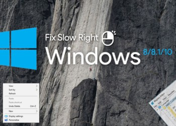 How to Fix Slow right Click in Windows 8 8.1 and 10